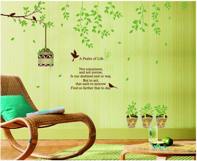 child love bird family tree branch home decoration wall art stickers ...