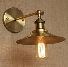 Винтажный настенный светильник в стиле лофт латунный ретро Эдисона