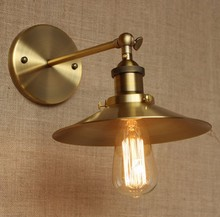 Brass Loft Industrial Vintage Wall Light For Dinning Room Class Retro Edison Wall Sconce Lamp Arandelas nordic edison wall sconce retro loft style industrial vintage wall lamp simple wall light fixtures for indoor lighting lampara