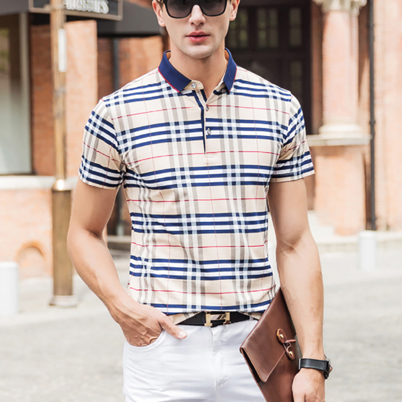 Aliexpress.com  Buy New 2016 Summer Style Plaid Classic business men polo shirt Loose New Brand Mens Polo Shirt For Men Cotton Short Sleeve from Reliable shirt brazil suppliers on Mystery Costumes(10)