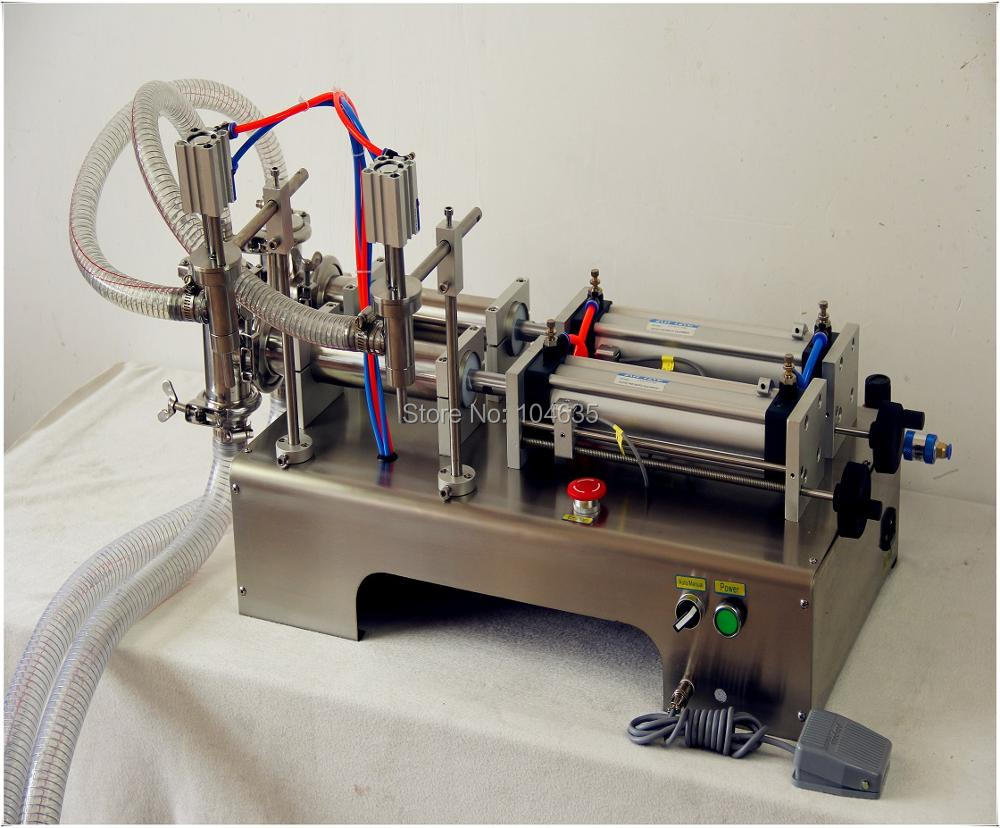 50-500ML Semi-Automatic Double Head Pneumatic Liquid Shampoo Filling Machine Paste filling machine auto filler,pneumatic filler 50 500ml horizontal pneumatic double head shampoo filling machine essential oil continuous liquid filling machine