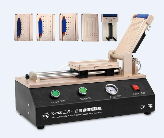 TBK 768 Universal Automatic  LCD OCA Film Laminating Machine For iPhone Samsung Repair with 5 Sets S6 S6+ S7 S8 S8+ Moulds