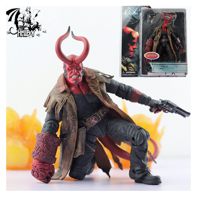 MEZCO HELLBOY PREVIEWS EXCLUSIVE ACTION FIGURES PVC STATUE MODEL COLLECTOR TOY Anime Figure Collectible Model Toy anime love live nozomi tojo pvc action figure collectible model toy 25 5cm kt2845
