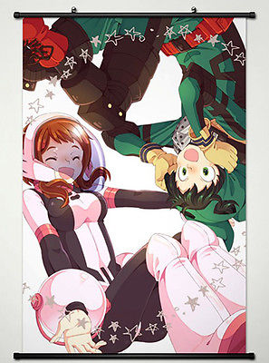 Wall Scroll Poster for Anime My Hero Academia Izuku Midoriya & Ochako Uraraka