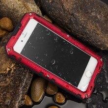 Роскошные doom Панцири призма противоударный Водонепроницаемый металла Алюминий Телефонные чехлы крышка для iphone 5S SE 5SE 6 6 s + закаленное Стекло