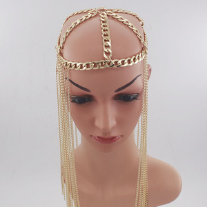 Image 5 - Женские аксессуары для волос в стиле панк, длинные аксессуары для волос с кисточками, вечерние тиары на лбу, Новое поступление
