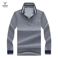 Hollirtiger Pocket Men Polo Shirt Fashion Business Casual Cotton Male polo men fashion Long Sleeve Soild Tipped Collar clothes
