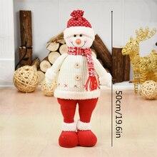 Christmas Ornaments Santa Claus Snowman Elk Ornaments Doll Decor Xmas Party Decoration