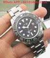 VAKCAK 2017 New Green GMT Ceramic Bezel Mens Top Luxury Brand Automatic Self-Wind Watch Men Watches Sports Mechanical Wristwatch