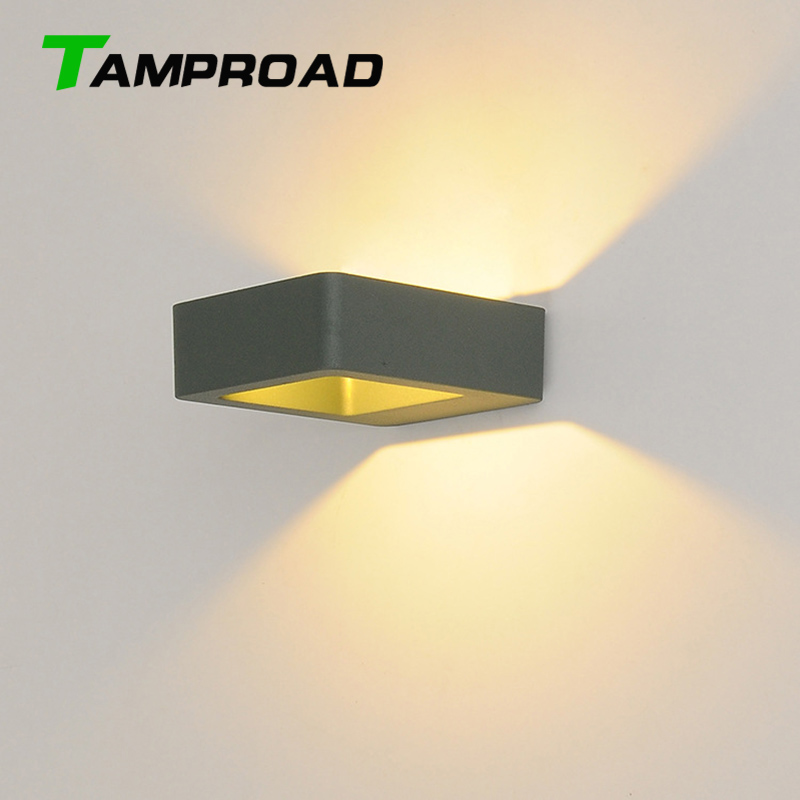 TAMPROAD Outdoor Lighting Wall Lamps Up Down 8W LED Light IP65 Waterproof Stairs Fence Porch Outside Lights Hallway Spotlight