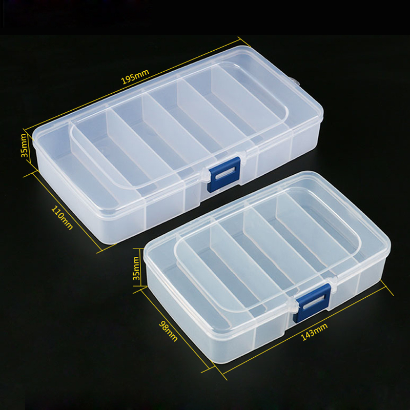 1pcs Plastic Tool Box Screws IC Jewelry Beads Fishing Storage Box Craft Organizer Small Part Container Case Toolbox