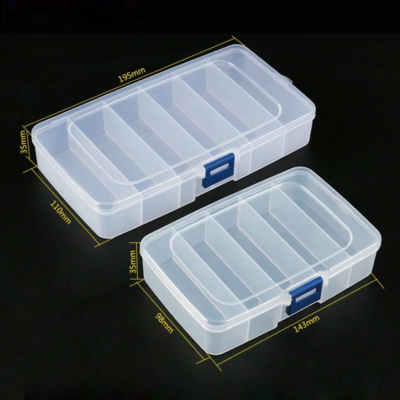 1pcs Plastic Tool Box Screws IC Jewelry Beads Fishing Storage Box Craft Organizer Small Part Container Case Toolbox