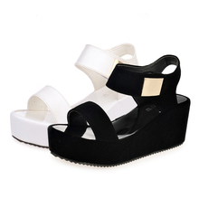 2019 Summer Gladiator Women Shoes Roman Sandals Fashion Women Platform Wedges Sandals Casual Ankle-Wrap Sandalia Feminina P25