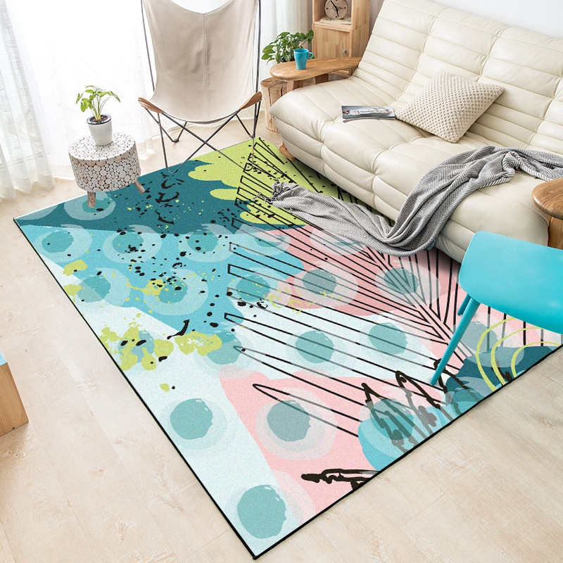 Modern Colorful Tropical Leaves Carpets Tapete Living Room Sofa Bedroom Bedside Kids Room Area Rugs Kitchen Anti Skid Floor Mat Buy At The Price Of 9 05 In Aliexpress Com Imall Com