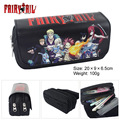 Tail Pen Wallet cartoon characters Lucy Naz high-capacity double zipper bag wallet Fairy