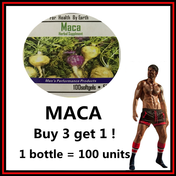 (Buy 3 get 1) 1 bottle = 100 units plant Viagra MACA Supplement prolong erections for men/male,Enhance your men's ability jimbo maca