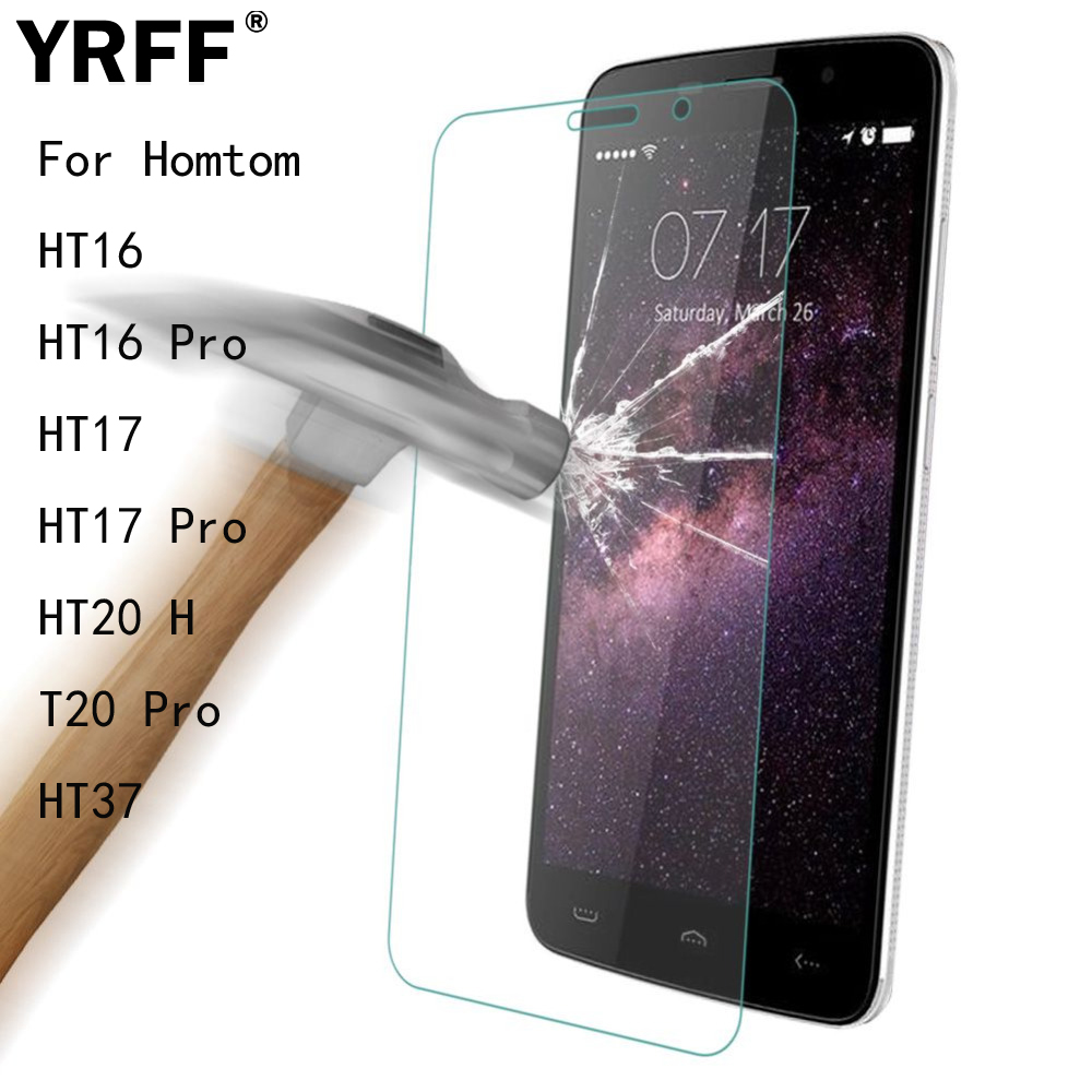 2PCS 2.5D 0.26mm Tempered Glass Screen Protector Protective Film For Homtom HT16 HT16 Pro HT17 HT17 Pro HT20 HT20 Pro HT37 Tools(China)