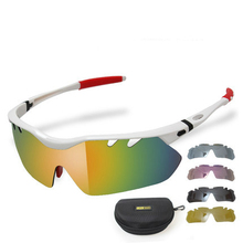 New Polarized Cycling Sun Glasses Outdoor Sports Bicycle Glasses Bike Sunglasses TR90 Goggles Eyewear 5 Lens 2 Colors