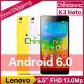 "Original lenovo k3 note k50 android 6.0 teléfono móvil desbloquear mtk6752 Octa Core Dual SIM 4G LTE FDD 5.5 ""FHD 2G RAM 13MP"