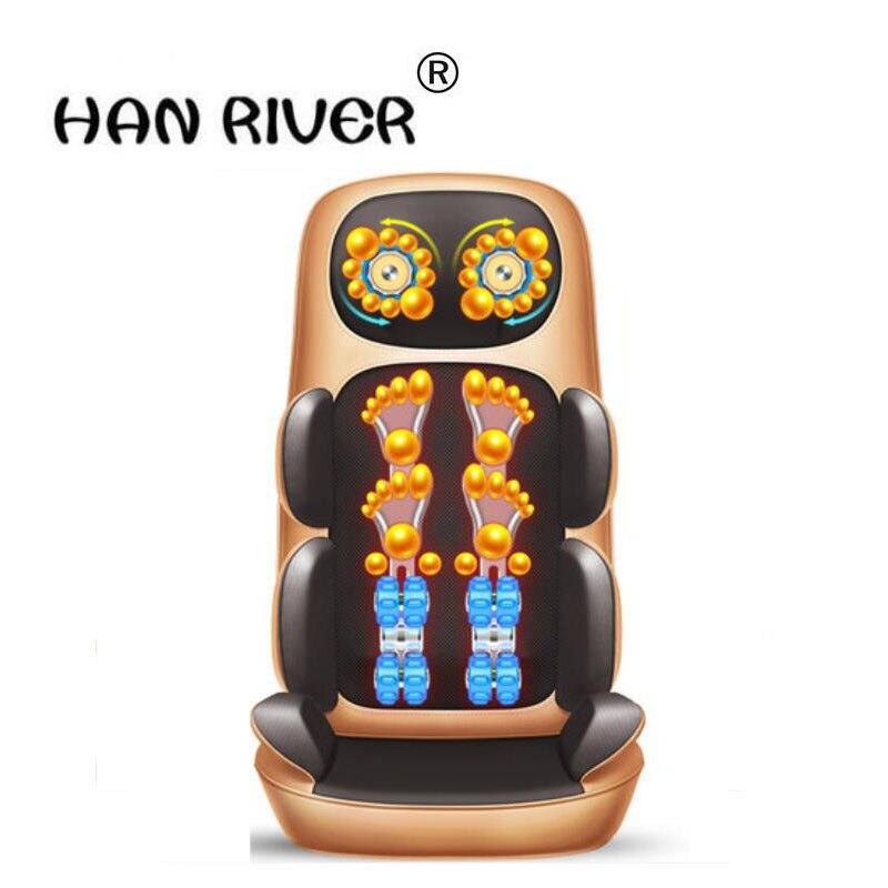 HANRIVER Cervical spine massager multi-function body vibration kneading household electric pillow chair cushion 111215 all body multi function massage pads cervical spine massager all body household cushion free split design