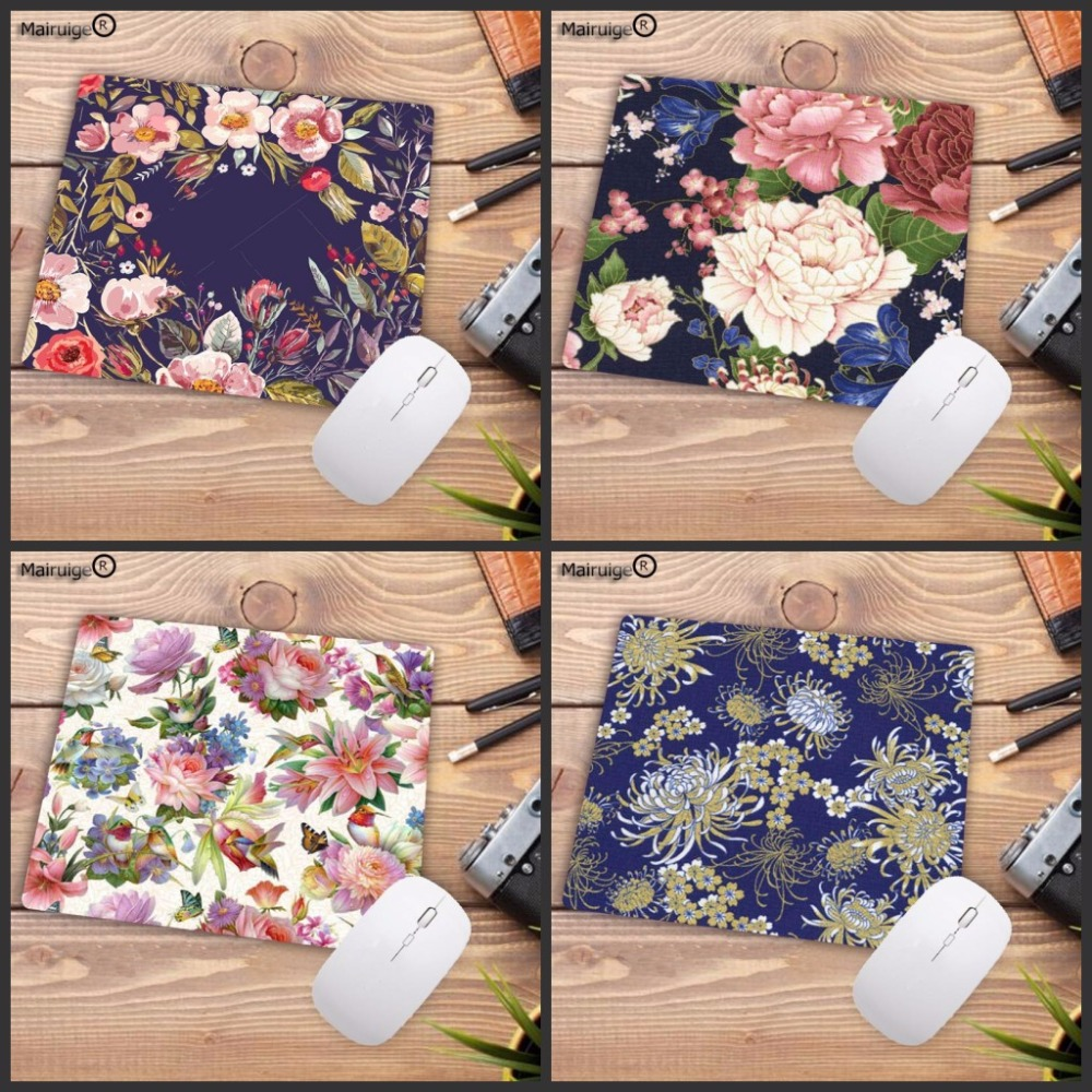 Mairuige Rubber Gaming Mouse Pad  Big Pink Flower Pretty Print Laptop Mouse Mat Small Size Mouse Notebook Computer Mousepad
