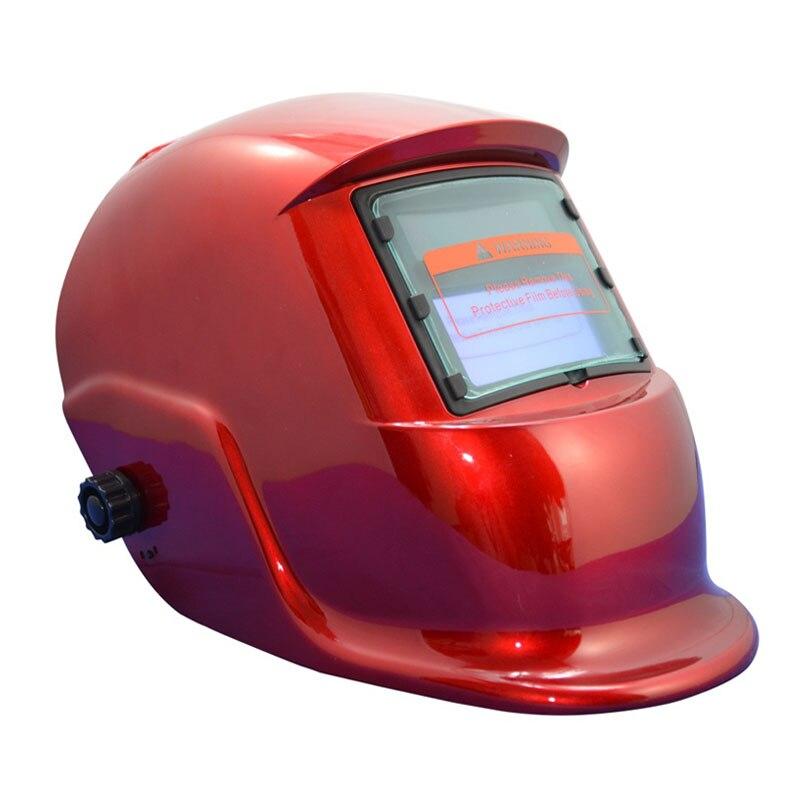 Tools : Autimatic Welder Mask TIG welding helmet argon arc welding mask grinding Welding Helmet TRQ-HS03-2200de with blue gloves
