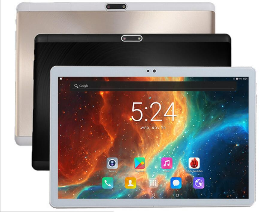 Free shipping Android 7.0 Octa Core 10 inch Tablet PC 4GB RAM 32GB ROM 5MP WIFI A-GPS 4G LTE 2.5D Tempered Glass IPS 1920*1200(China)