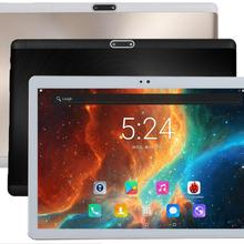 Free shipping Android 7.0 Octa Core 10 inch Tablet PC 4GB RAM 32GB ROM 5MP WIFI A-GPS 4G LTE 2.5D Tempered Glass IPS 1920*1200