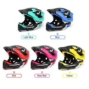 Image 2 - Lixada casco de motocicleta desmontable para niños, máscara completa, casco de seguridad deportivo para ciclismo, Skateboarding