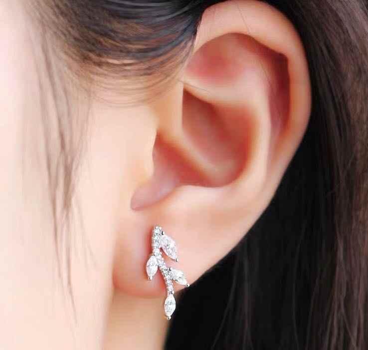 INS-APM עשוי חדש עלה עגילי עיצוב תחושה קטן אוזן ציפורניים אופנתי אישיות Baitao עגילים