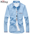 2016 male Dress Shirt Solid Color oxford shirt for Men Slim Fit Mens Long Sleeve Casual Shirts Social  Homme Camisa Masculina