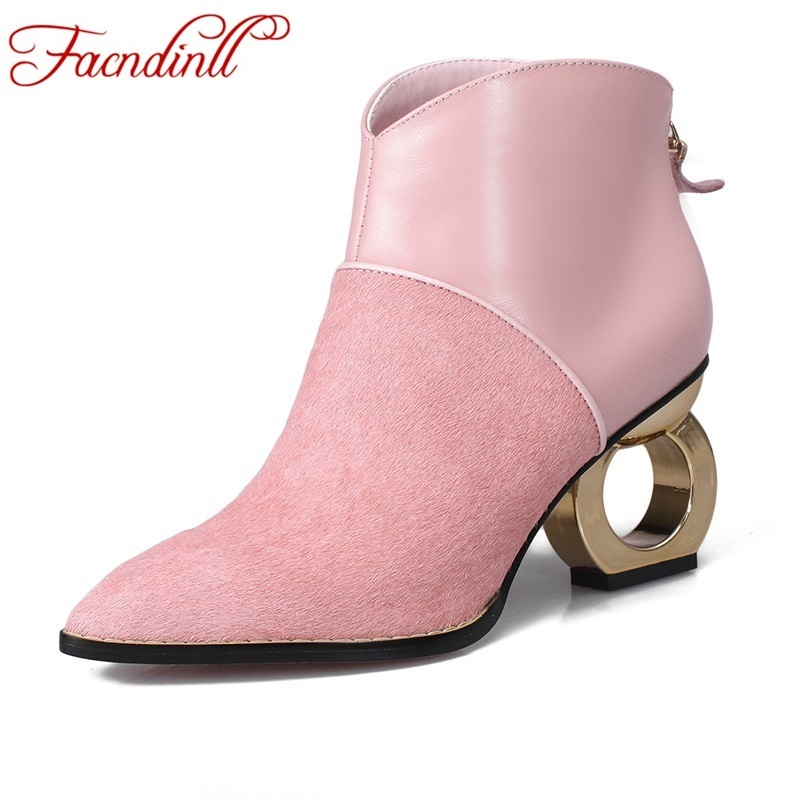women's boots 2017 new fashion autumn winter boots genuine leather shoes woman ankle boots pink gray riding boots for women zobairou hot design suede ankle riding boots women western cowboy shoes woman fashion real genuine leather dicker boots 34 41