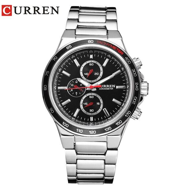 Curren Мужчины часы Календарь мужской часы кварцевые часы прилив бренд повседневные Модные мужские Таблица 8011.