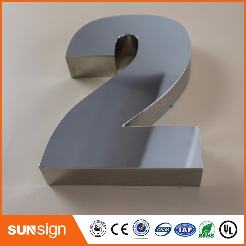 Customized 304 Stainless Steel House Numbers