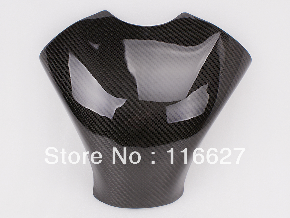Freeshipping Carbon Fiber Fuel Gas Tank Protector Pad Shield For Kawasaki ZX6R 636 2007-2008 arashi carbon fiber gas tank cover pad protector for honda cbr600 rr 2007 2008 2009 2010 2011 2012 accessories fuel case