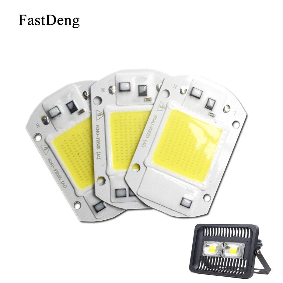 Spotlight AC 110V 220V Flood Light Integrated Smart IC Chip 20W 30W 50W High Power Supply Light Source Led Floodlight