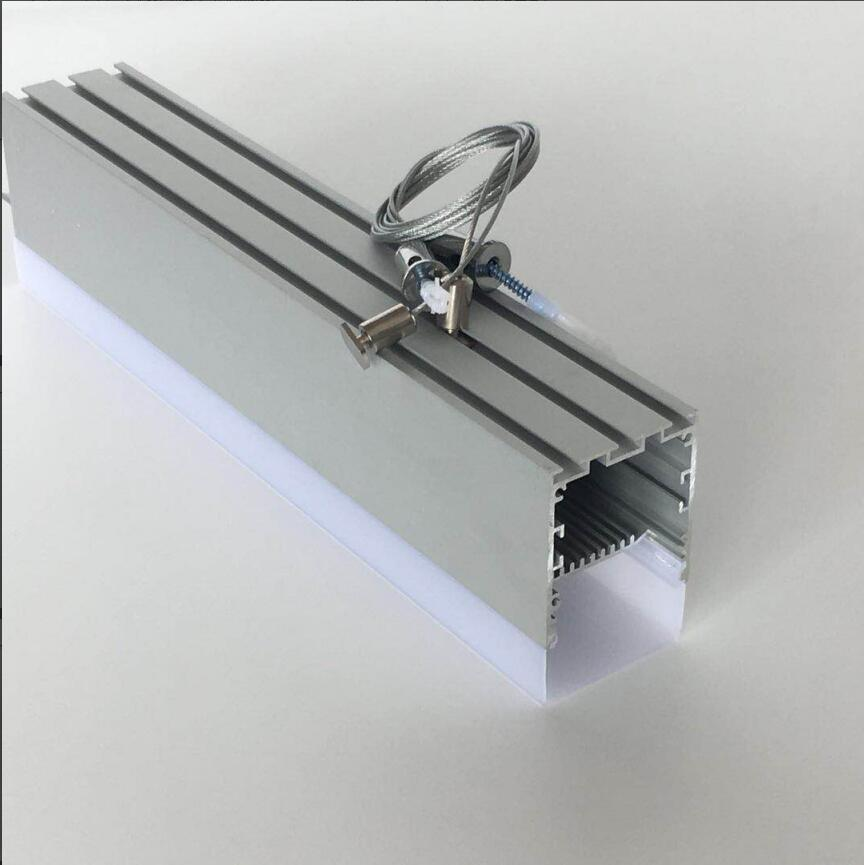 Free Shipping 50mm*75mm Aluminum led linear strip Housing/channel for Kitchen cabinets, Furniture, Supermarket lighting-in LED Bar Lights from Lights & Lighting on YANGMIN aluminum profile Store