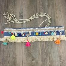 Deniz kabuğu Boho kemer moda göbek zincir kemer dans Bohemian etnik vücut zinciri kadınlar takı