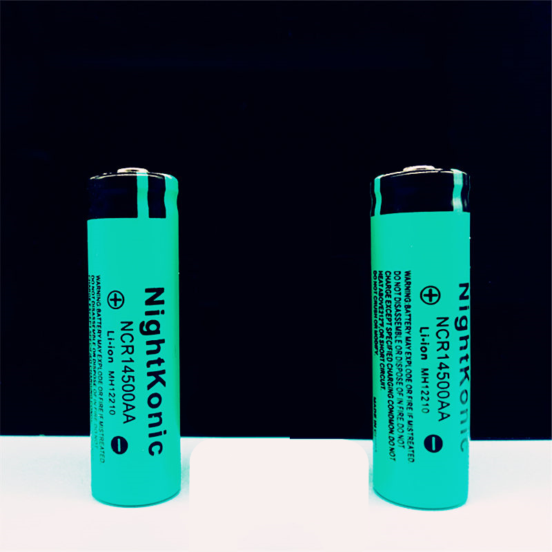 High quality Nightkonic <font><b>14500</b></font> Rechargeable Battery 3.7V <font><b>Li</b></font>-<font><b>ion</b></font> Battery for flashlight image