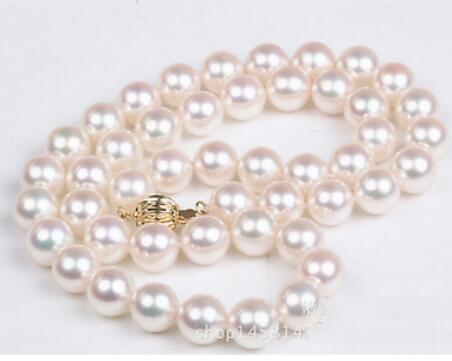 classic round south sea 11-12mm white round pearl necklaceclassic round south sea 11-12mm white round pearl necklace