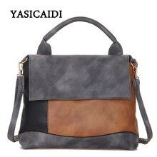 Drop Shipping Fashion Patchwork Pu Kožené kabelky Casual Luxusní značka rameno designer tašky pro ženy Ženské Tote ruční tašky