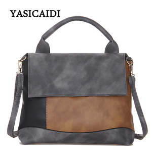 Image 5 - YASICAIDI Fashion Patchwork Pu Leather Handbags Luxury Brand Women Crossbody Shoulder Bag Female Casual Tote Ladies Hand Bags
