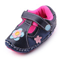 New Arrival Hign Quality TPR Sole Baby Girl Toddler Shoes Handmade Hook&Loop Kids First Walk Shoes