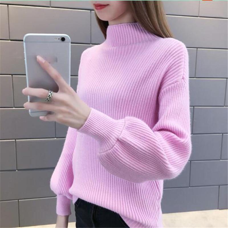 Women Winter Sweaters Fashionable turtlenecks Short Long sleeve pullovers Loose Elasticity knit sweaters Women jumpers top AS903 knitting