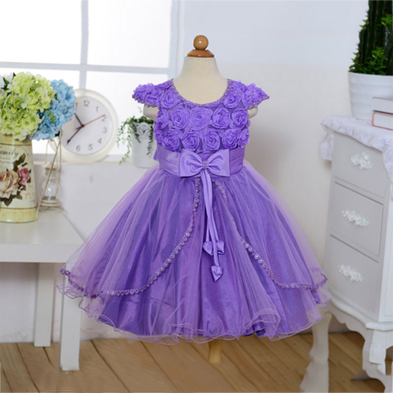 Girls Evening Dress Purple Rose Flower Mesh Ball Gown Princess Party Dresses Christmas Gift for Girl New Arrival LQ007 полотенцесушитель domoterm dmt 109 т5