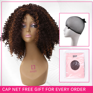 Image 4 - Amir Hair Natural Afro Wig Kinky Curly Wigs For Women Synthetic Female Wig Short Wigs Black brown blonde color avaliable