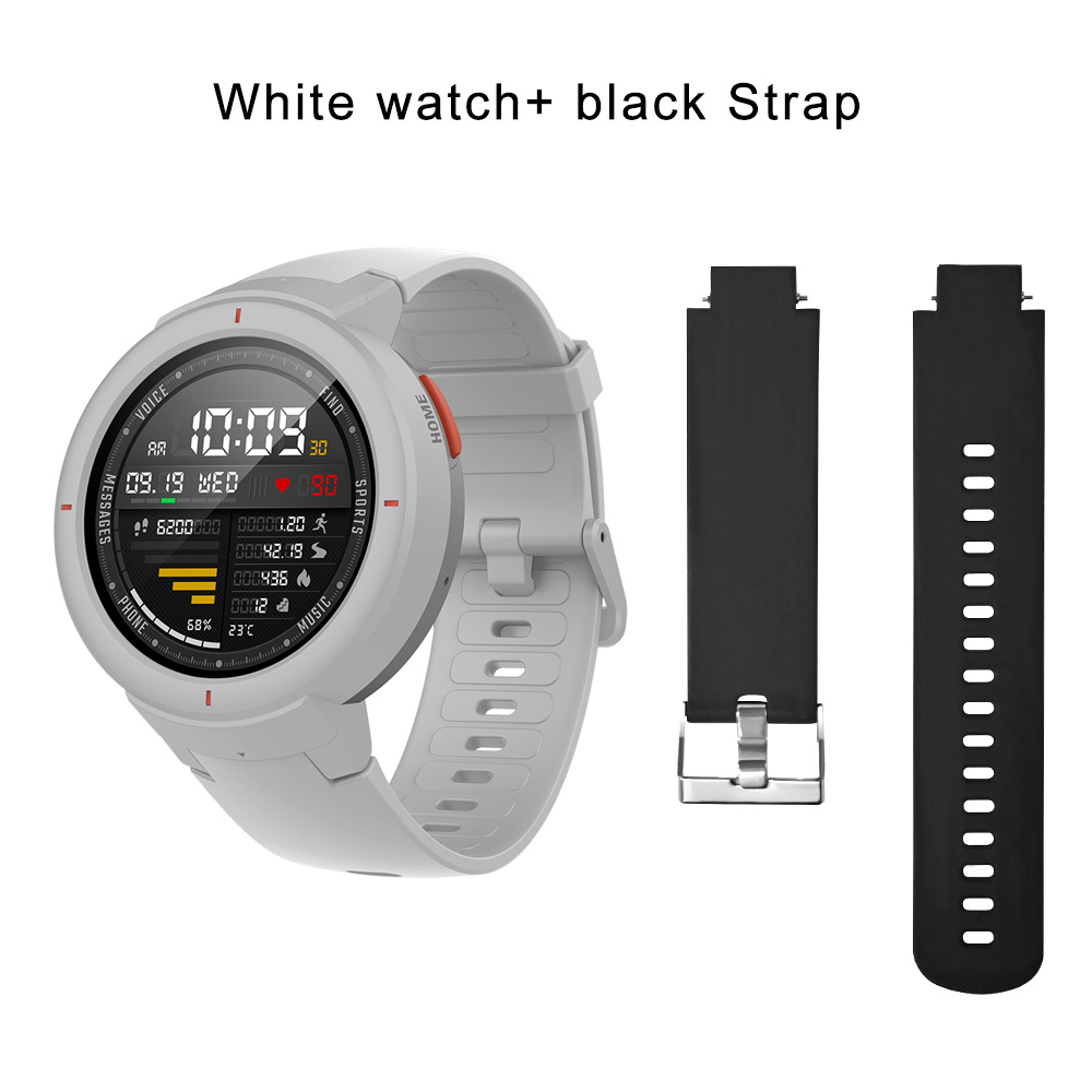 white N black strap