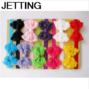 New 2017 Practical 10pcs Kids Girl Lace Headwear Lovely Flower Bowknot Headband Hair Band Accessories