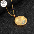 LINSOIR 2017 Gold Virgin Mary Necklaces & Pendants For Women Stainless Steel Chain Zircon Necklace Prayer Religiou Jewelry F8235