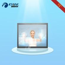 ZB150TC-V59/15 cal 1024×768 HD wiszące na Ścianie Metalowej Obudowie Monitora Dotykowego/15 cal HDMI Przemysłowe cztery Przewody Monitor Dotykowy Odporność